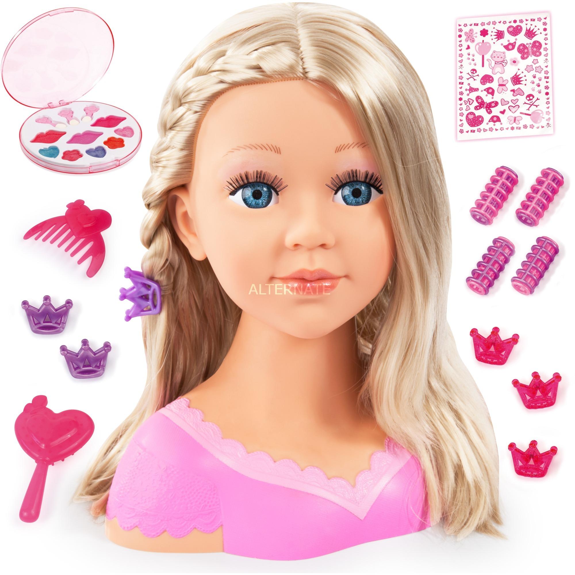 Image of Charlene Super Model mit Kosmetik, Schmink- und Frisierkopf