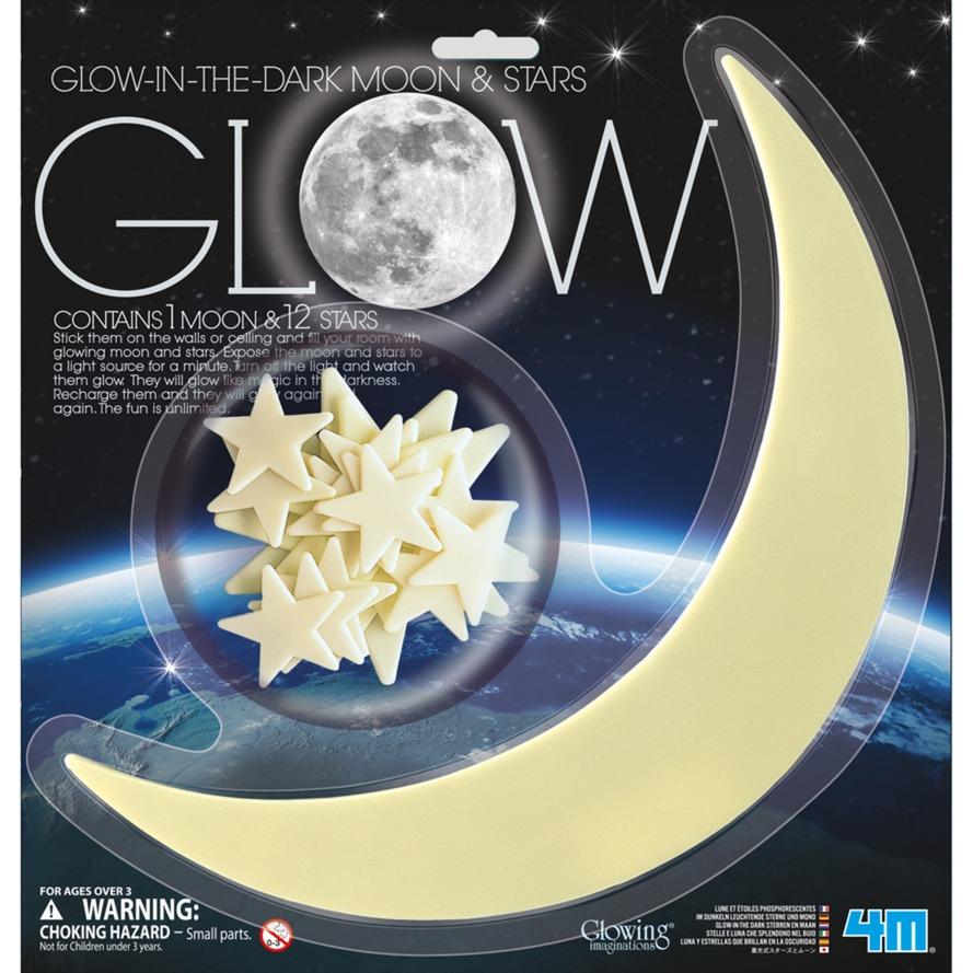Image of Glow - Leuchtsterne & leuchtender Mond, Dekoration