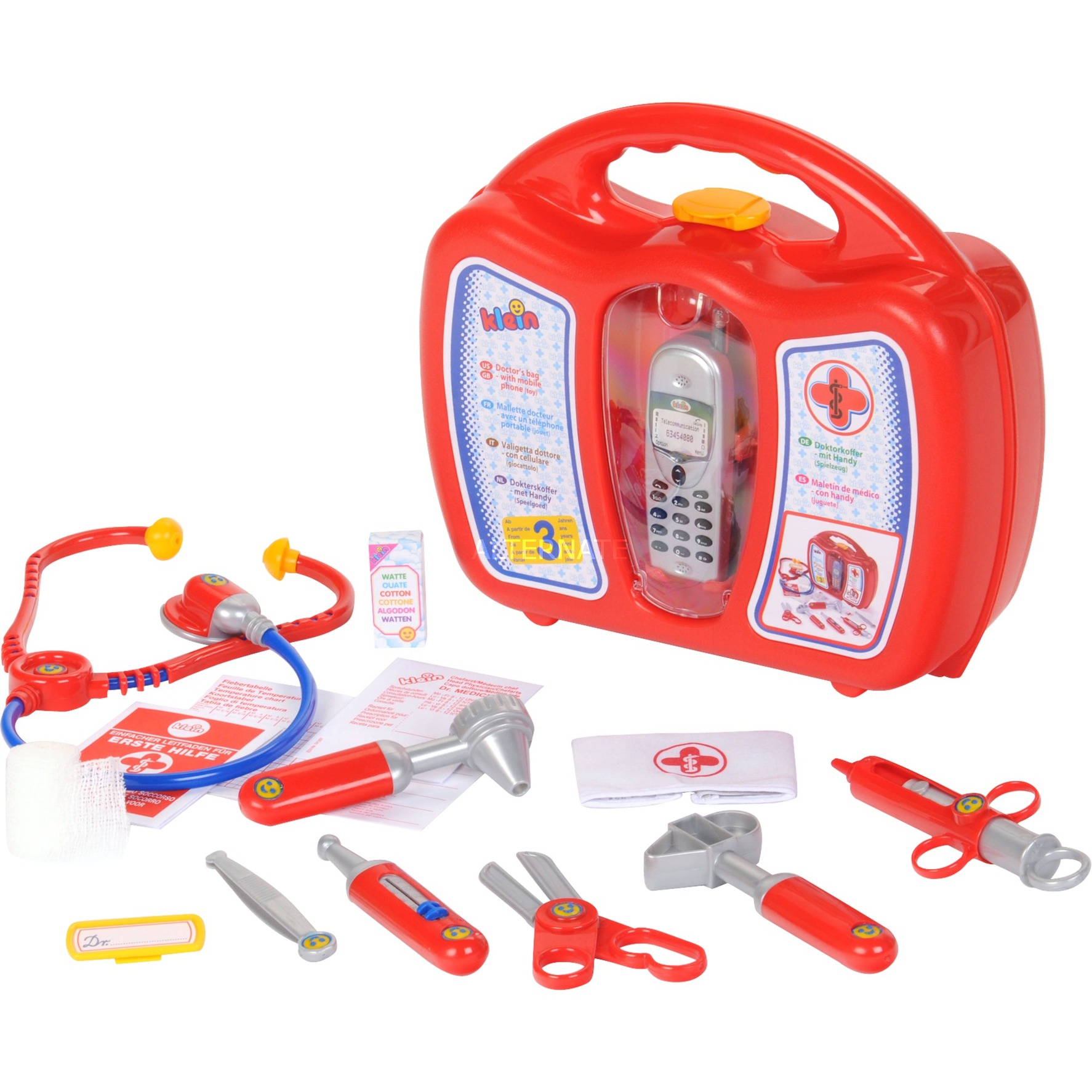 Image of Arztkoffer mit Handy, Rollenspiel