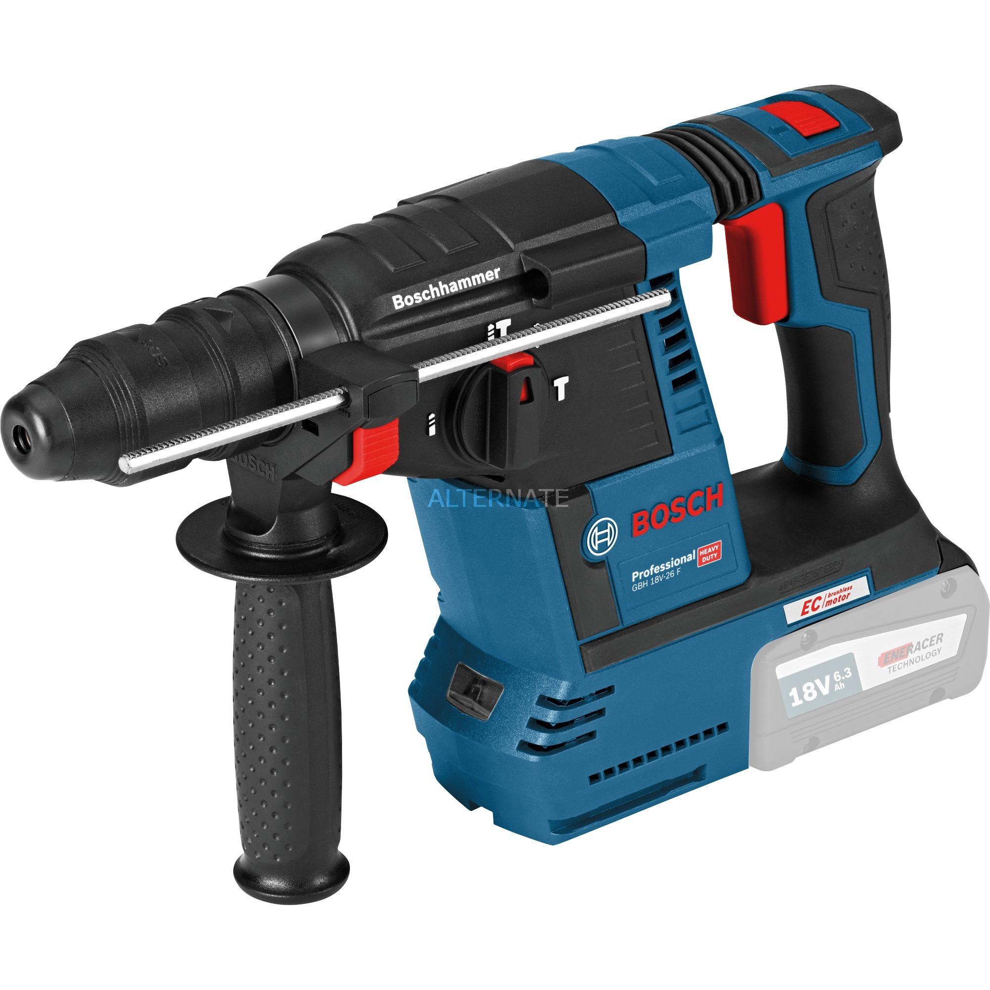 Extrem Bosch Akku-Bohrhammer GBH 18V-26 Professional blau, L-BOXX, ohne MK54