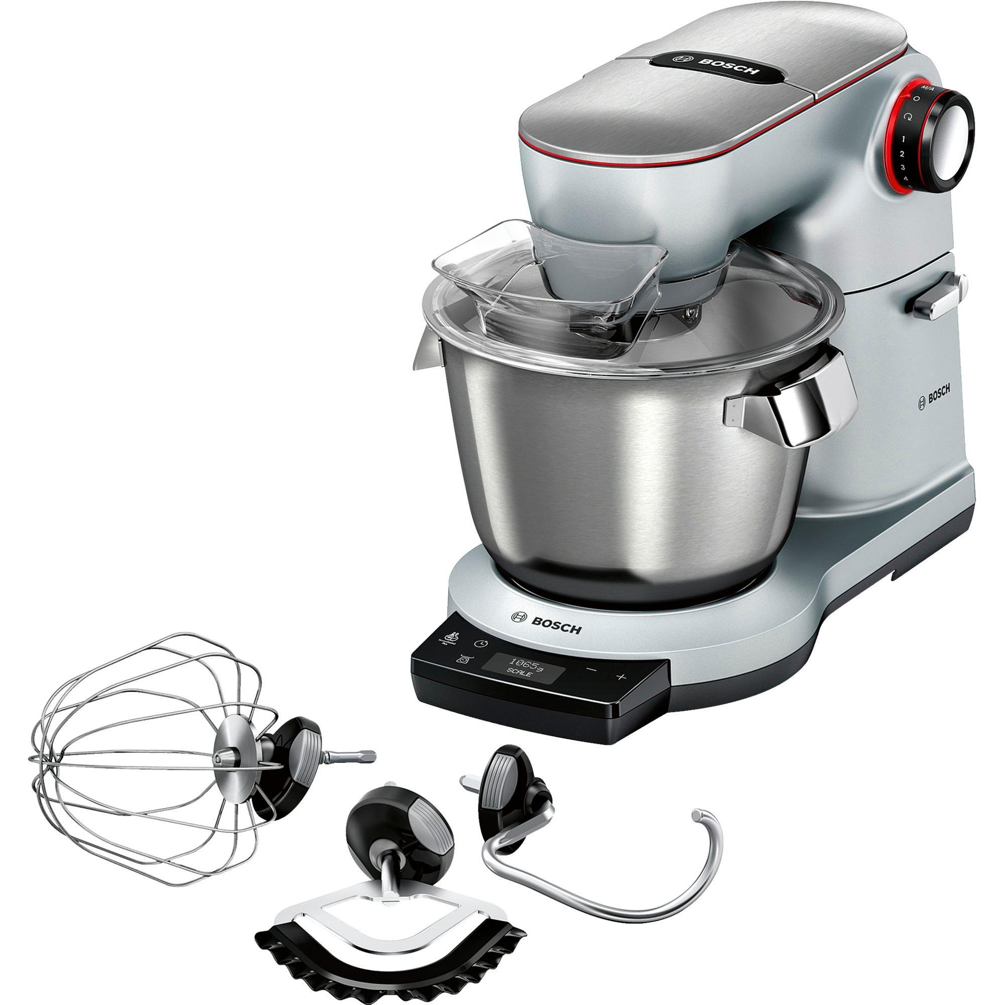 Bosch Küchenmaschine OptiMUM MUM9AX5S00 silber, mit Profi-Patisserie-Set