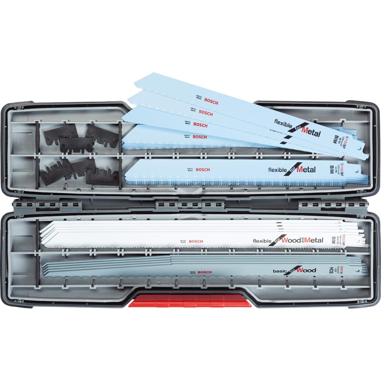 bosch säbelsägeblatt-set, toughbox, all-in-one, 20-teilig, sägeblatt