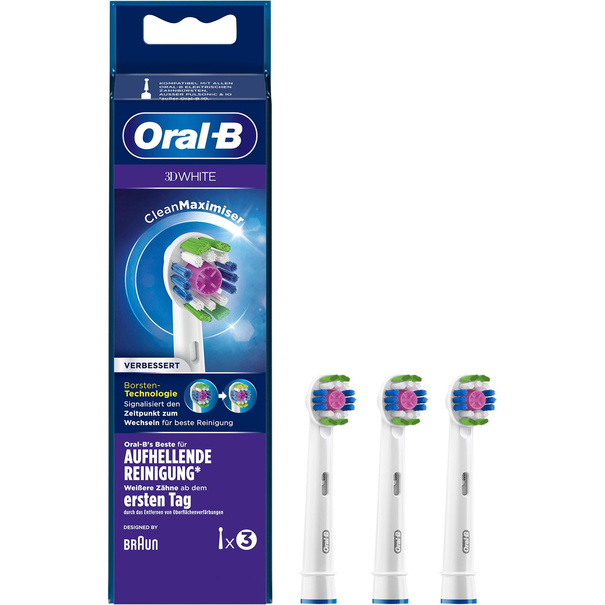 Image of Oral-B 3D White mit CleanMaximiser 3er, Aufsteckbürste