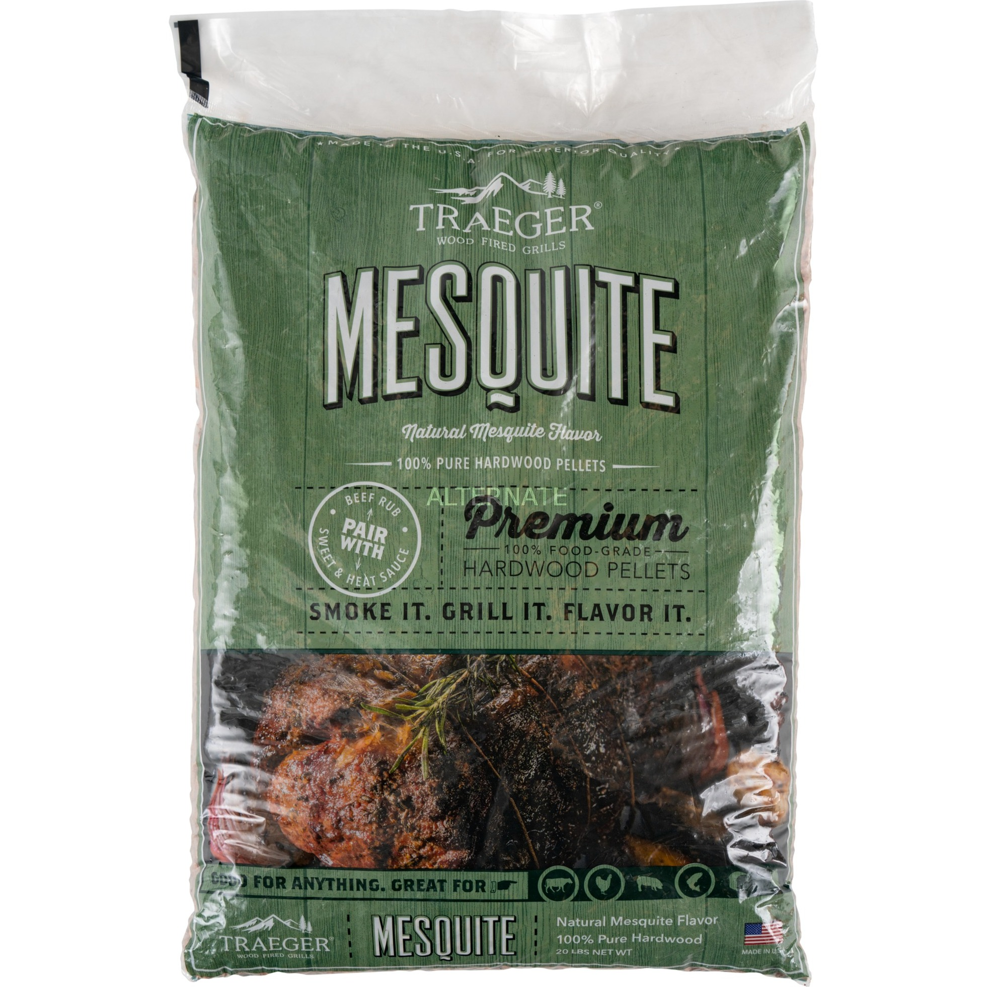 Image of Hartholz Pellets MESQUITE, 9kg, Brennstoff