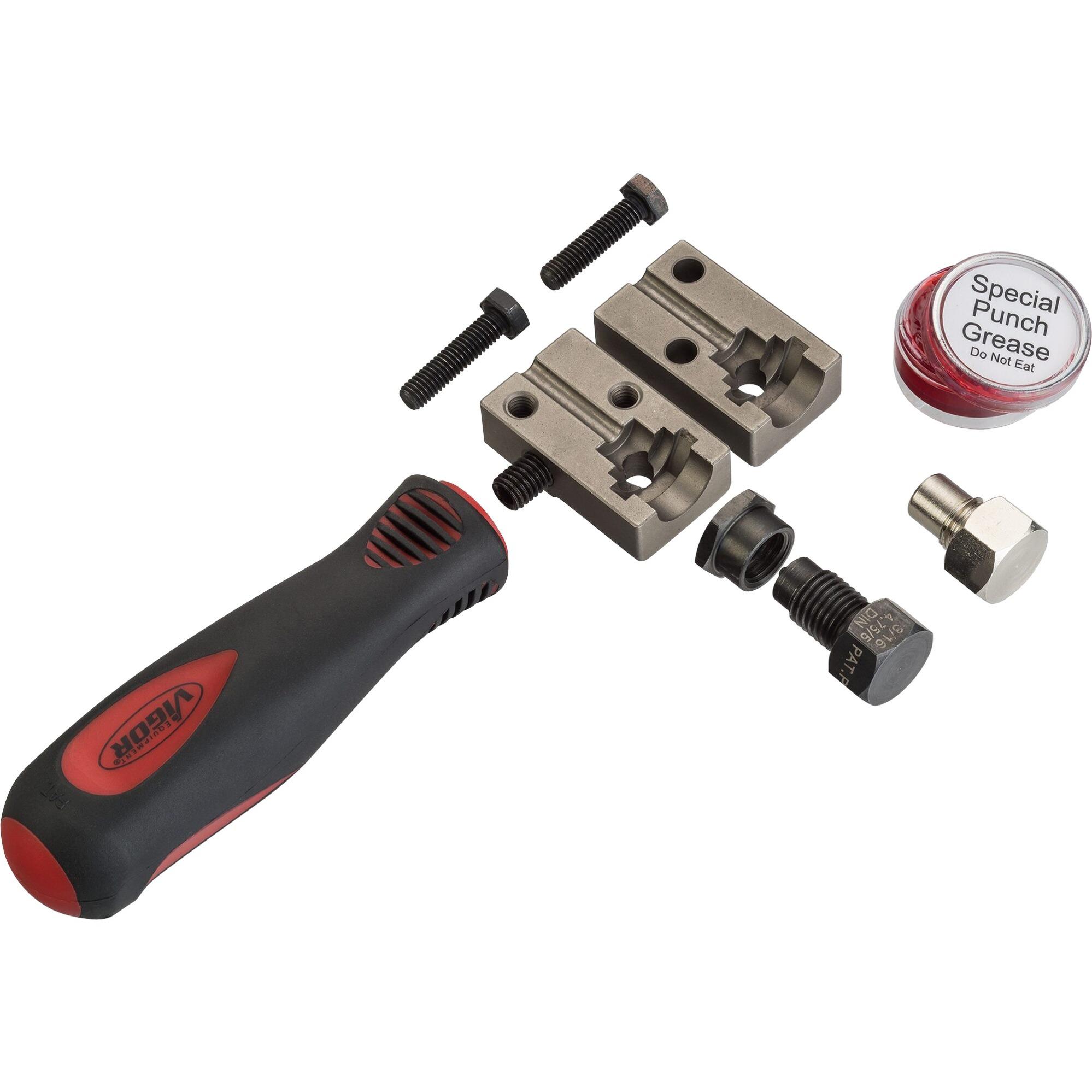 Image of Bördelgerät DIN für 4,75mm, 3-teilig, Bördel-Werkzeug