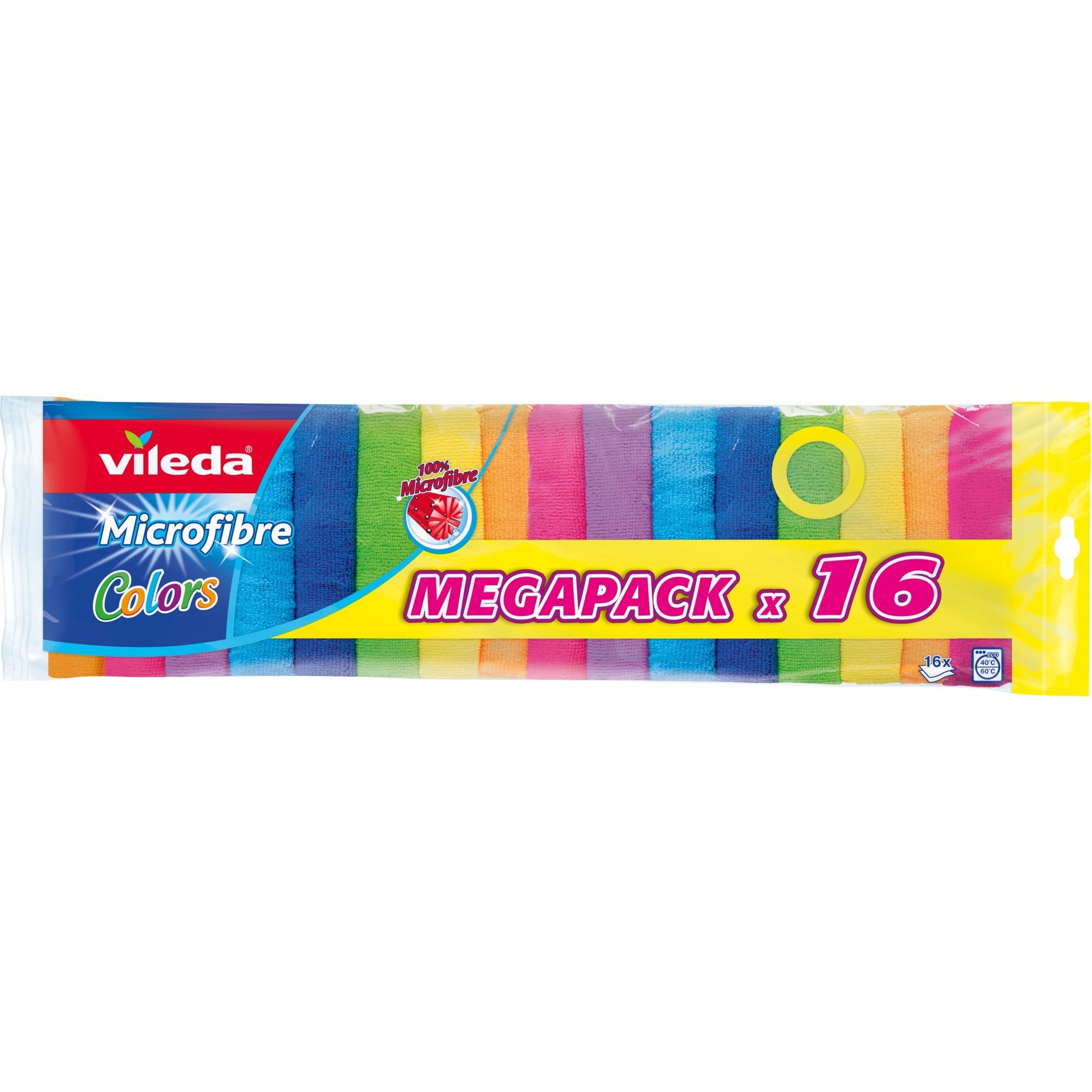 Image of Allzwecktuch Microfaser Colors 16er Megapack, Reinigungstücher