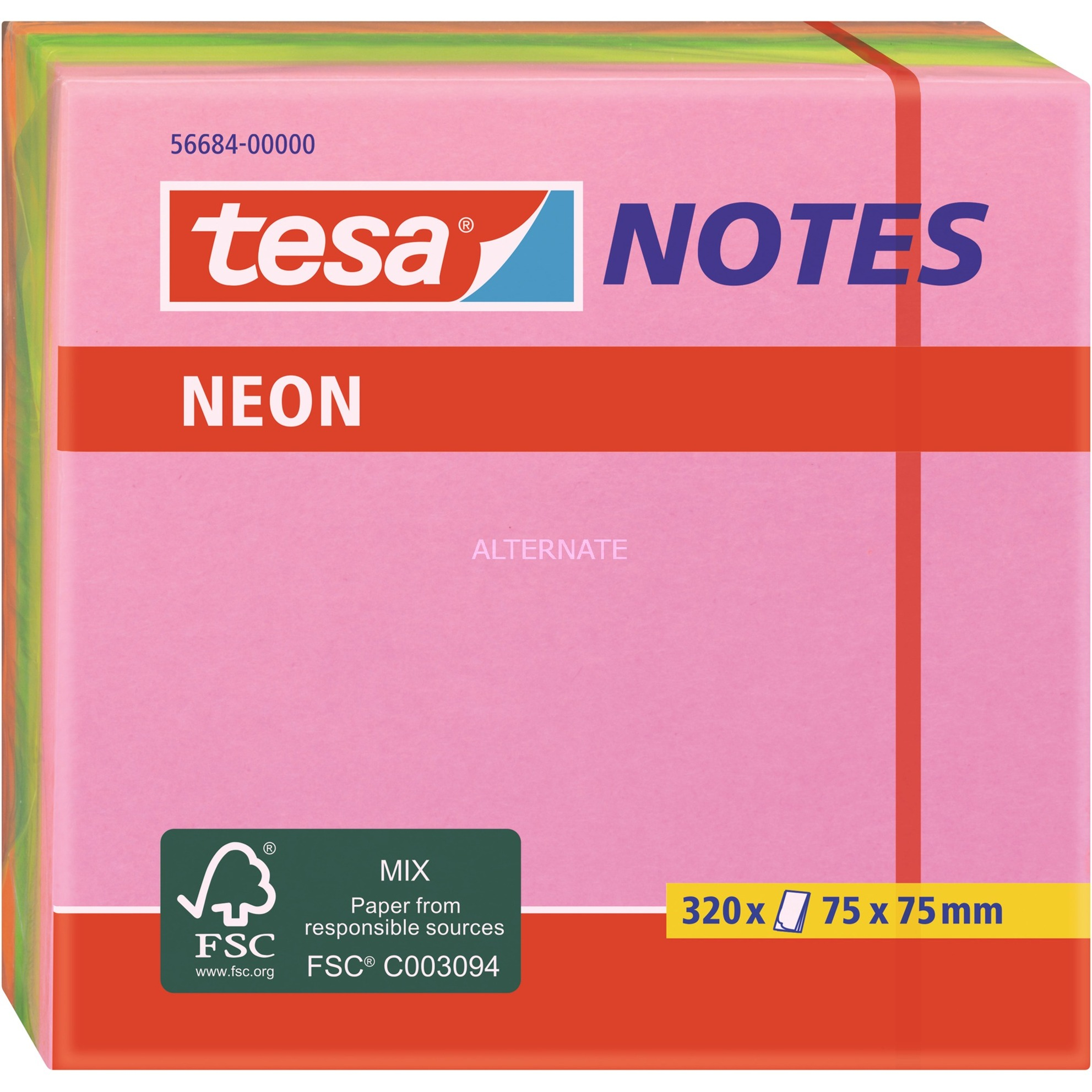 Image of Neon Notes Würfel, 320 Blatt, Aufkleber