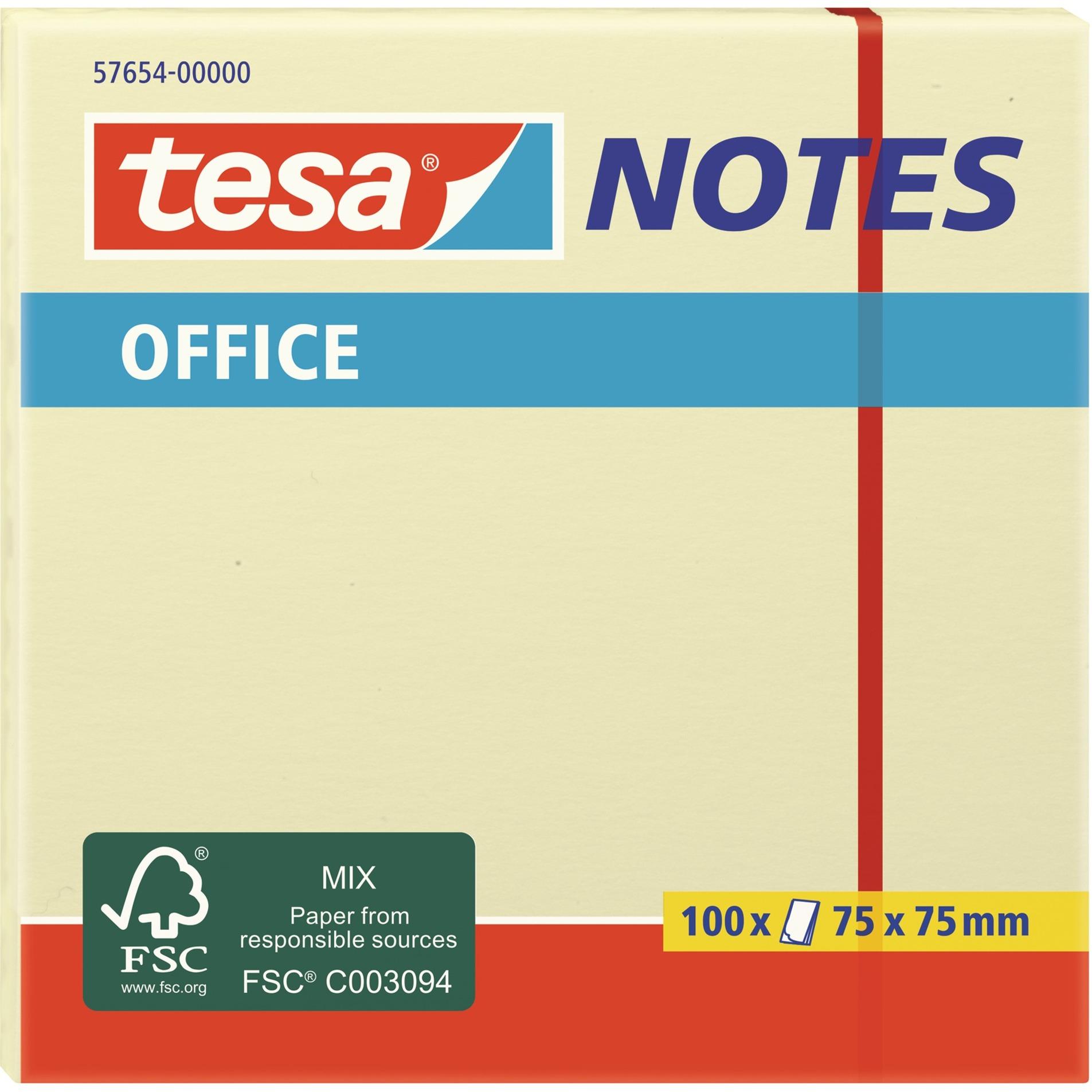 Image of Office Notes 100 Blatt, gelb, Aufkleber