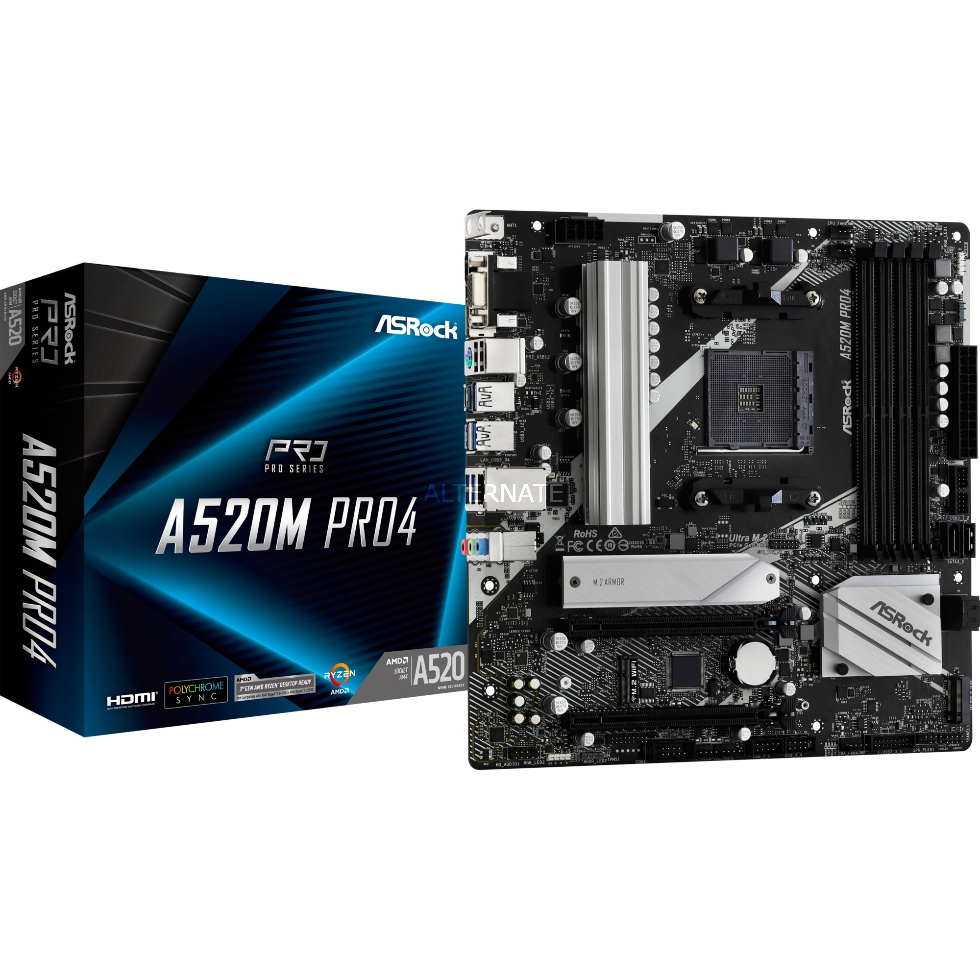 Image of A520M PRO4, Mainboard