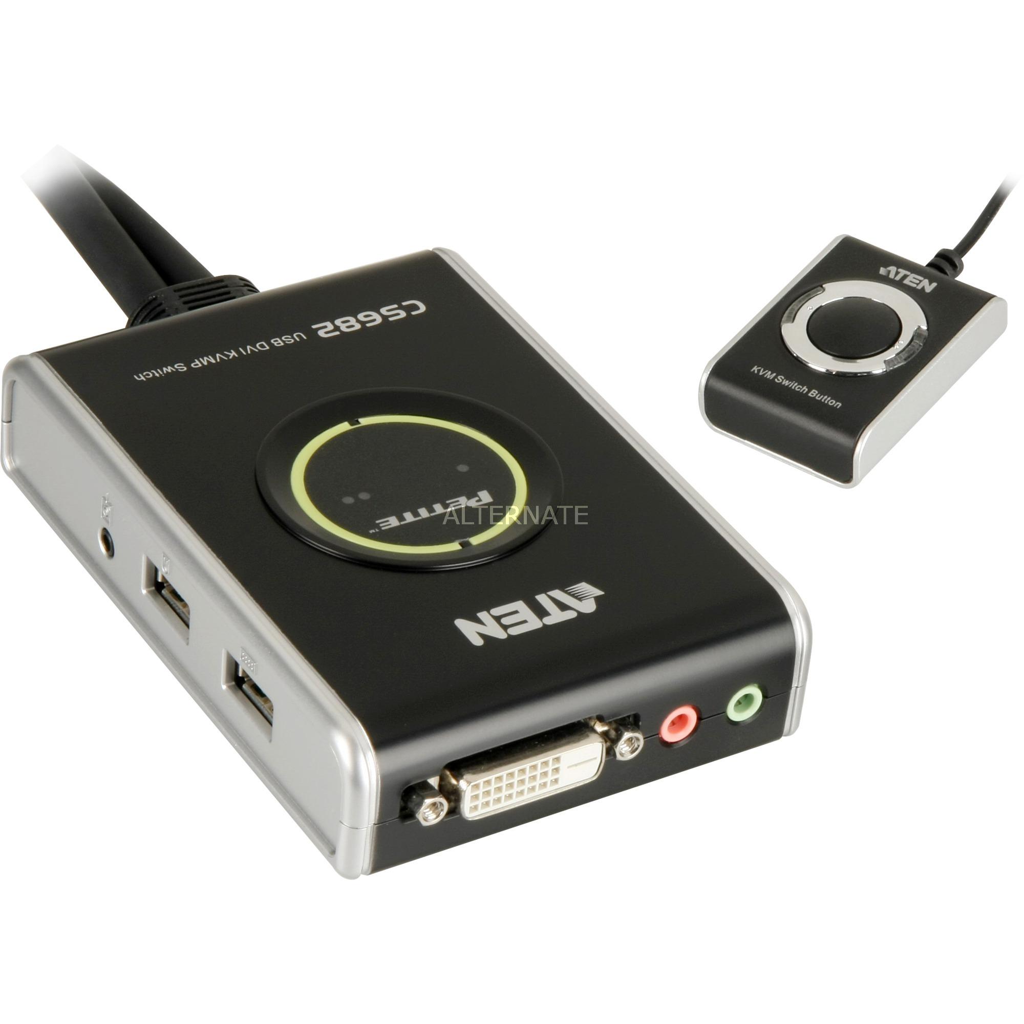 Image of 2-Port USB 2.0 DVI KVM Switch, KVM-Switch