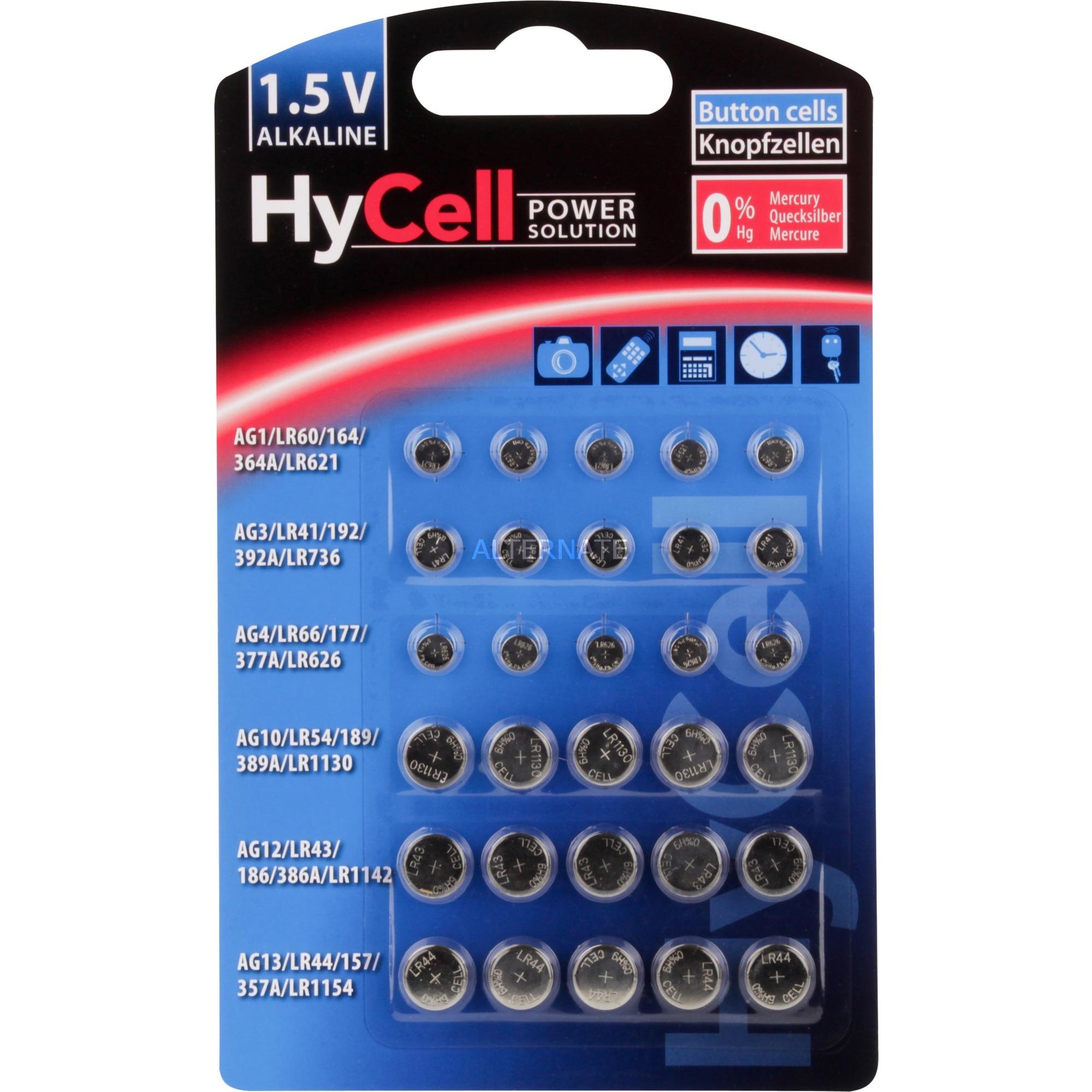 Image of Alkaline Knopfzellen-Set 30-tlg., Batterie